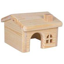 Trixie Holzhaus, Mäuse/hamster, 15 × 11 × 15cm - House Wooden Pine Hamsters -  trixie house wooden 15 pine hamsters small 11 cm