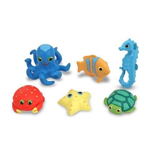 Melissa Doug Sunny Patch Seaside Sidekicks Creature Set Water Toys for Kids