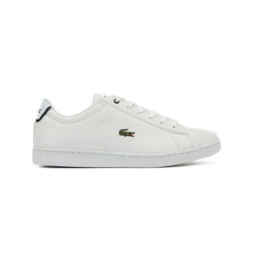 Lacoste Carnaby EVO BL 1 Junior White / Navy Trainers