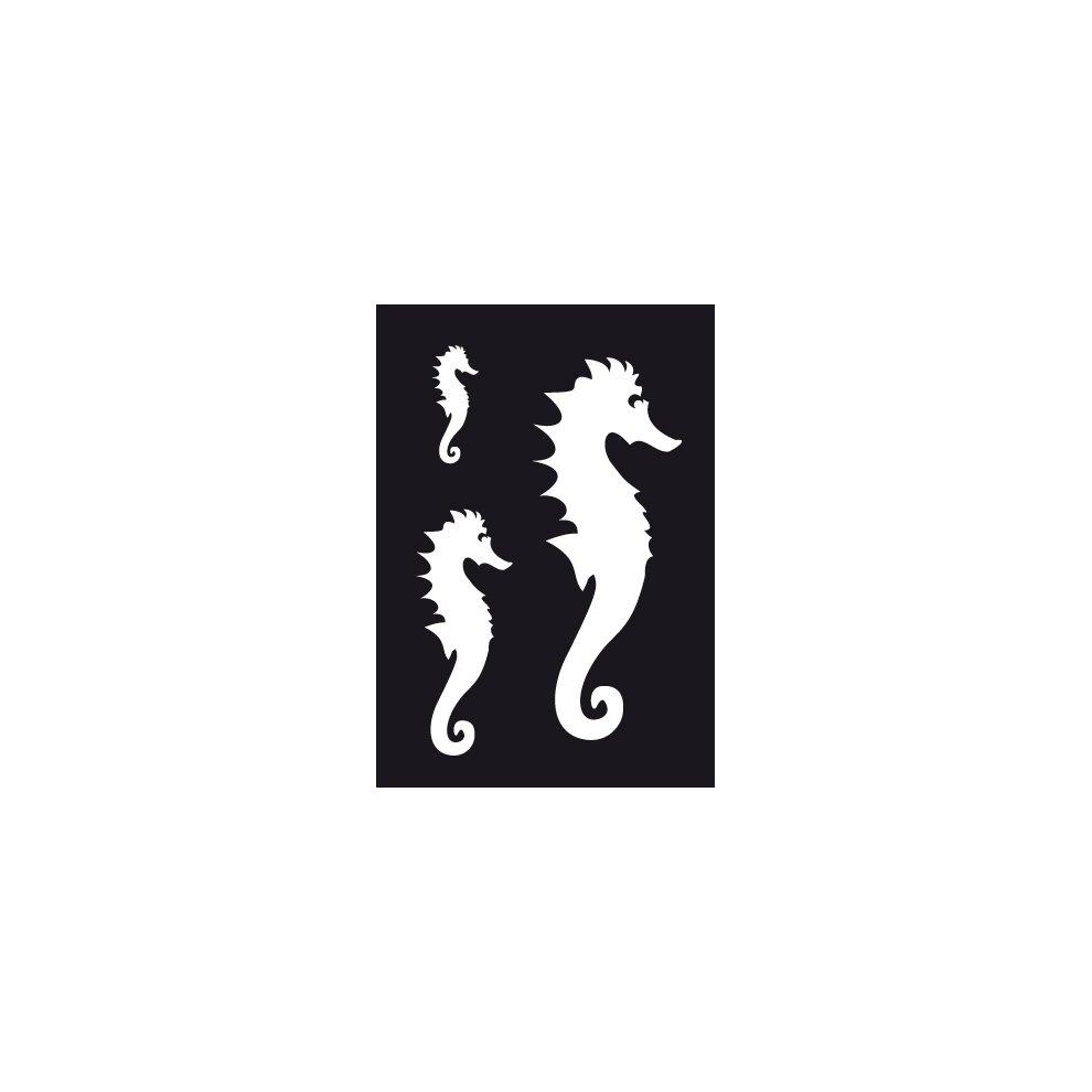 Sea Horse Airbrushing Adhesive Stencil 70x 100mm Paint Flexible