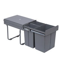 Homcom Recycle Waste Bin Pull out & Soft Close Kitchen Cabinet