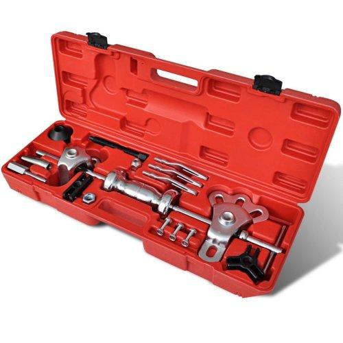 vidaXL 17 Piece 9-way Slide Hammer Puller Set Garage Car Gear Bearing Drive