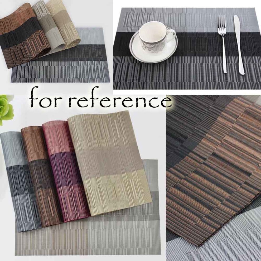 6 Pcs Heat Insulation Stain Resistant Placemat For Dining Table Durable Pvc Woven Kitchen Mats