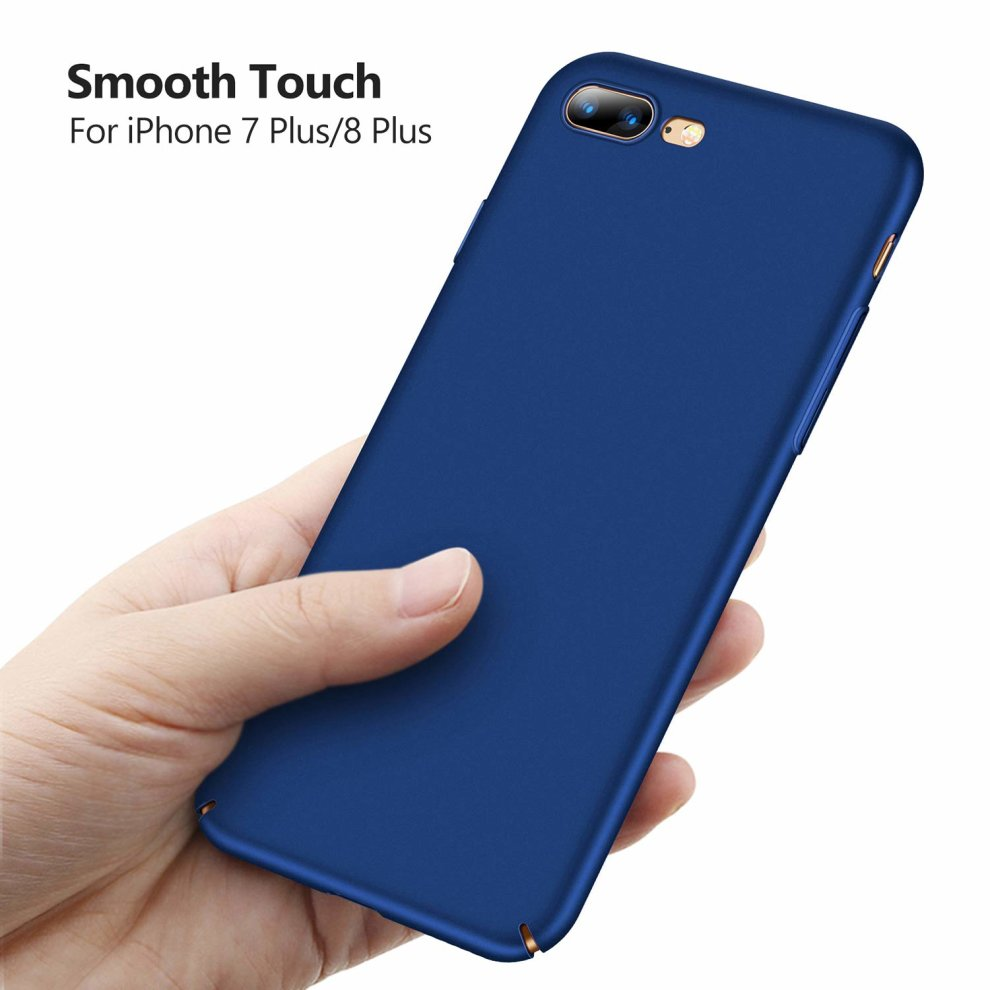 best service f8866 ad3e2 TORRAS iPhone 7 Plus Case, iPhone 8 Plus Case, Ultra-Thin Case with  [Tempered Glass Screen Protector], Simple Stylish Fully Protective Matt  Cover...