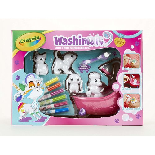 Crayola Washimals Playset | Colour & Wash Toys