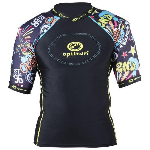 Optimum Razor Street Kids Rugby Body Protection Shoulder Pads Black/Multi
