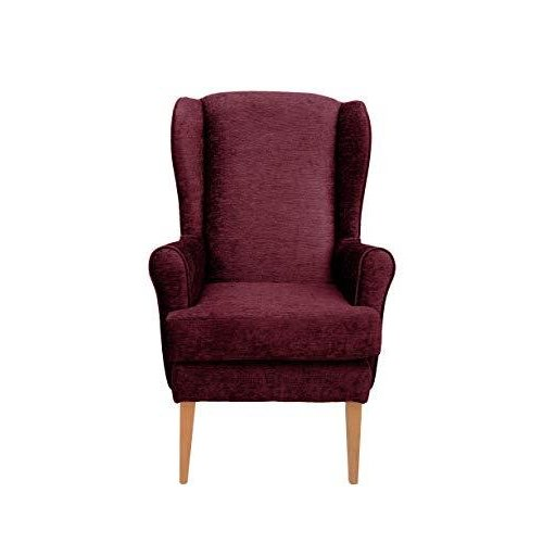 MAWCARE Darcy Orthopaedic High Seat Chair - 19 x 21 Inches [Height x Width] in Darcy Bordeaux (lc21-Darcy_d)