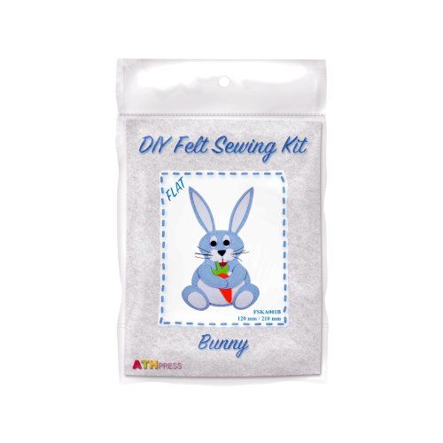 ATH Press - DIY Felt Sewing Kit - Bunny - Blue - Flat