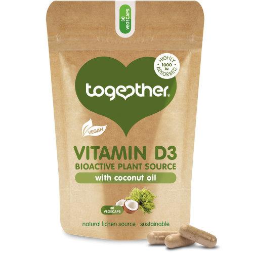 Together  Vegan Vitamin D3 Food Supplement Capsules 30s