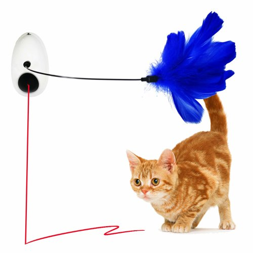 Vealind Hanging Automatic Cat Rotating Light Interactive Toy