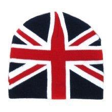 Union Jack Ski Cap Unisex Beanie Hat Mens Ladies UK GB UJ Flag Adult Wool