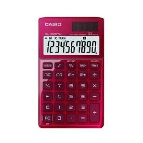 Casio SL-1000TW Handheld Calculator Red