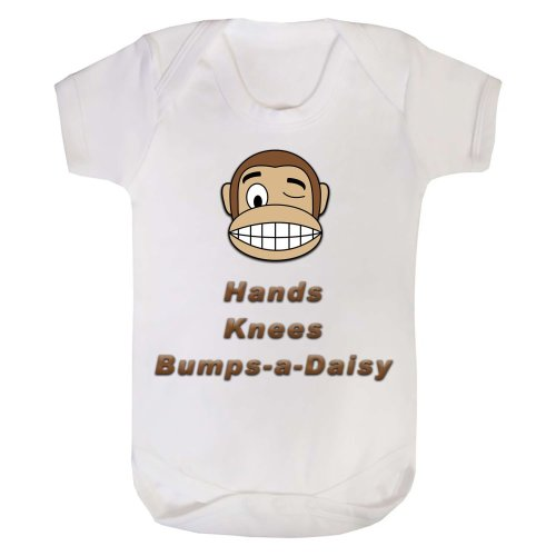 Hands Knees & Bumps-a-daisy Monkey Baby Grow Onesie