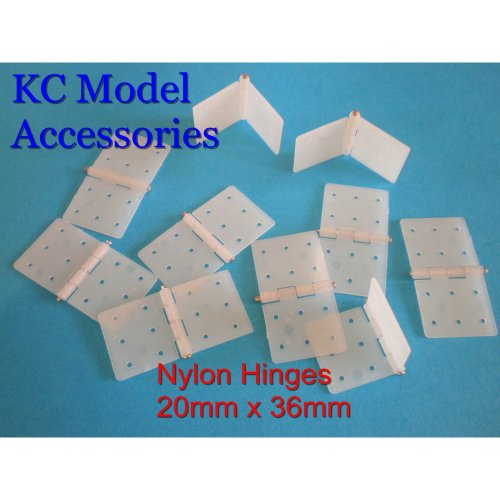 Hinges Nylon Pinned 20mm x 36mm x 10 pieces