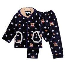 Children Pajamas Warm Thick Cotton Winter Suit Modern Set Sleepwear/Nightwear Clothes for Home, D2