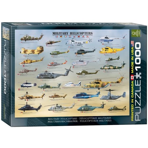 Eg60000088 - Eurographics Puzzle 1000 Pc - Military Helicopters