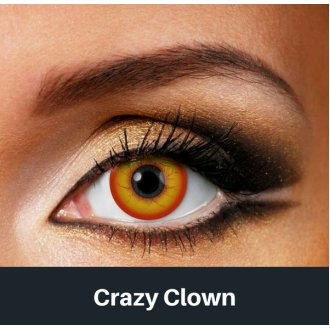 Crazy Clown Contact Lenses | Pennywise Halloween Contact Lenses