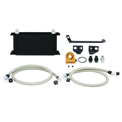 Mishimoto Ford Mustang EcoBoost Oil Cooler Kit, 2015+, Black Thermostatic
