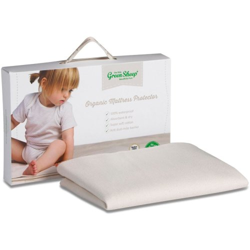 The Little Green Sheep Organic Mattress Protector - Crib (38 x 85cm)