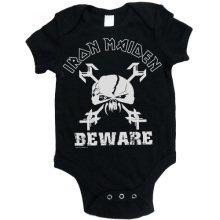 Iron Maiden Unisex Baby Imbg39cb Beware Short Sleeve Bodysuit, Black, X-large