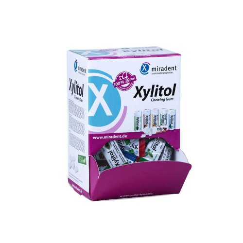 Miradent Xylitol Chewing Gum 200 x 2 Pieces / 400 g