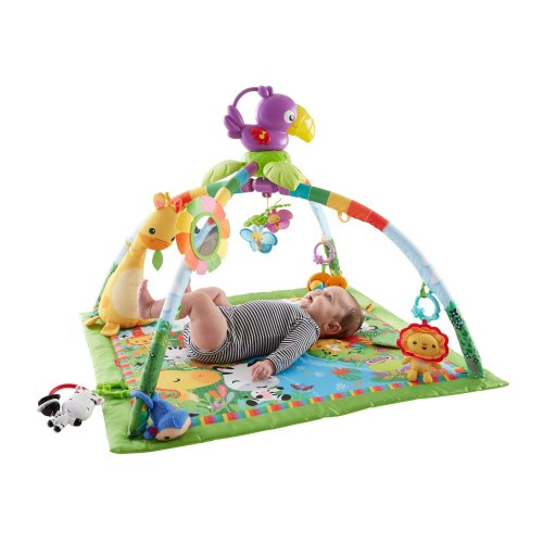 Fisher-Price Music & Lights Deluxe PlayGym For Kicking/Baby Exercise