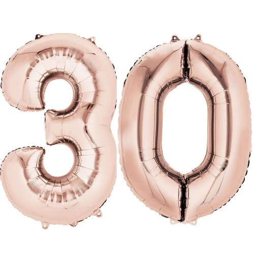 Ouinne Number 30 Foil Balloons 30th Birthday Helium 40inch For Surprise Party Rose Gold On OnBuy