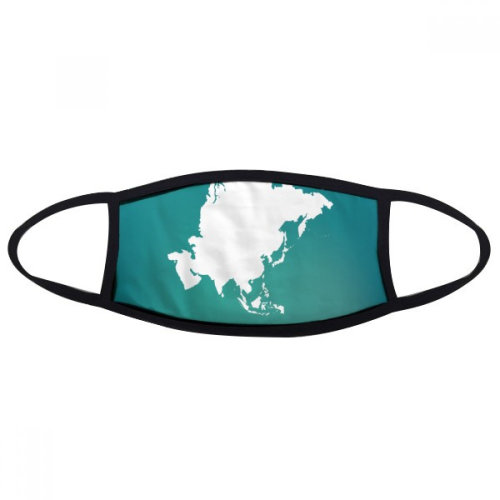 Asia Continent Outline Silhouette Map Mouth Face Anti-dust Mask Anti Cold Warm Washable Cotton Gift