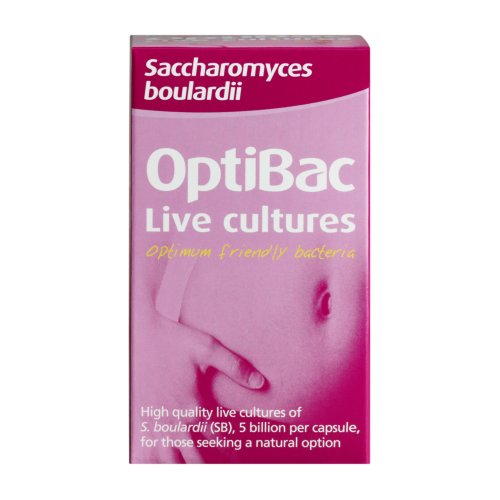 OptiBac Saccharomyces Boulardii - 5 Billion CFU Vegan & Natural - 40 Capsules