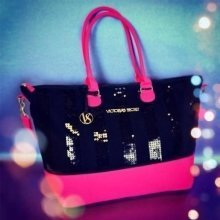 Victoria's Secret Glam Black Sequin Limited-Edition Tote Bag