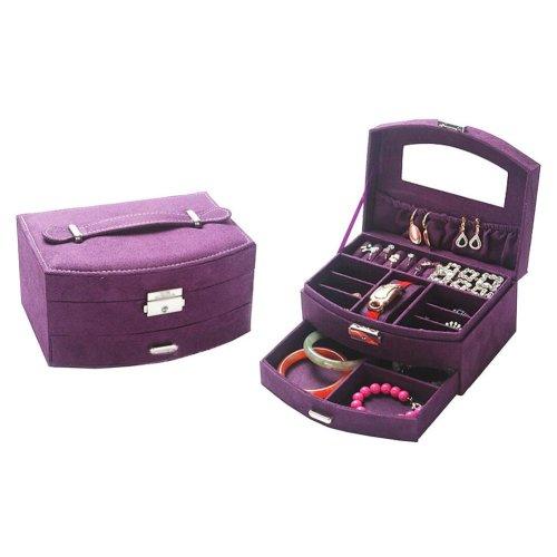 Portable Stylish Jewelry Box Ornaments Storage Boxes Jewelry Organizer -Purple