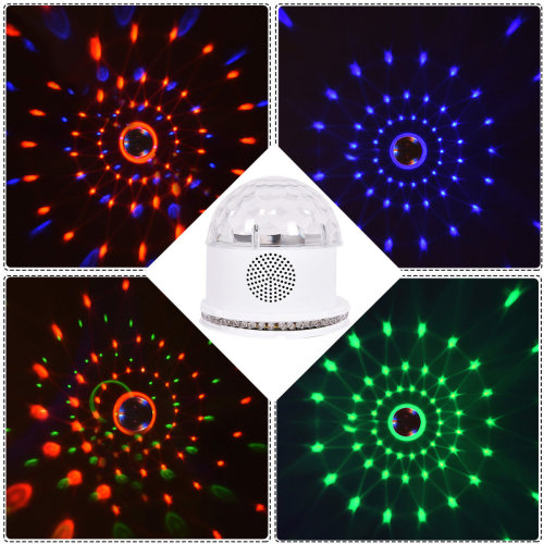 UK Remote Control Crystal Ball Magic LED Stage Light MP3