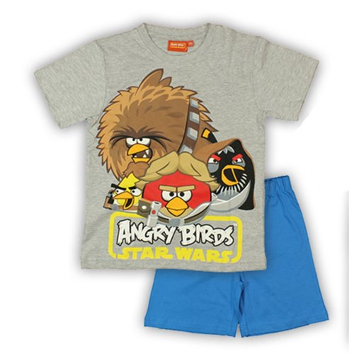 Angry Birds Star Wars Short Pyjamas - Grey