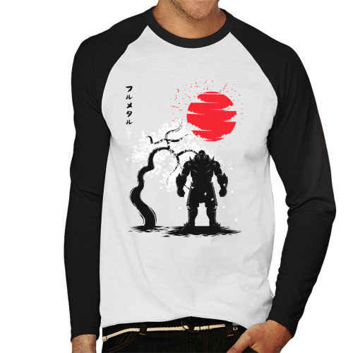 Fullmetal Alchemist Alphonse Elric Japanese Style Men's Baseball Long Sleeved T-Shirt