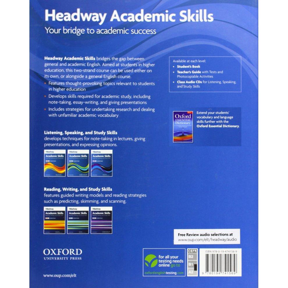 Headway Academic Skills: 1: Listening, Speaking, and Study Skills Student's  Book