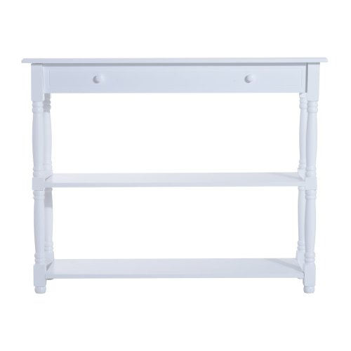 Homcom 3-Tier Console Table | White Hallway Table