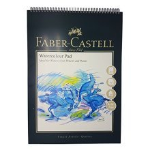 Faber-castell Wd792812 A3 300 Gsm Spiral Watercolour Pad With 10 Sheets -  pad fabercastell art graphic spiral bound watercolour a3 300 gsm 10
