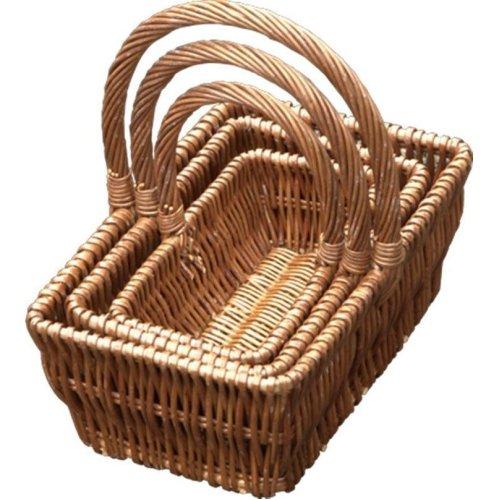 Set of 3 Rectangular Gift Shopping Baskets