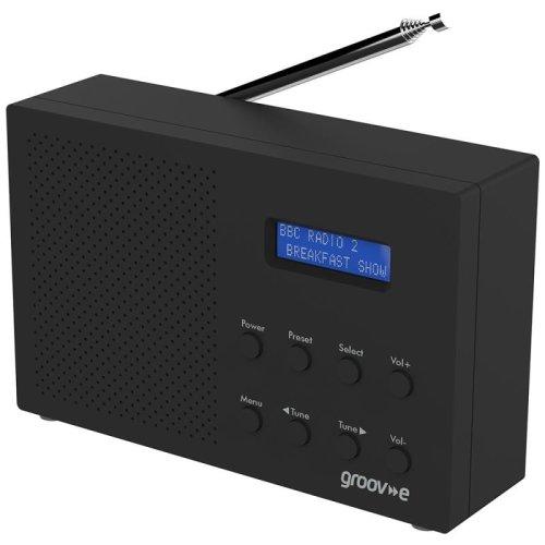 Groov-e GVDR03BK Paris Portable DAB/FM Digital Radio - Black
