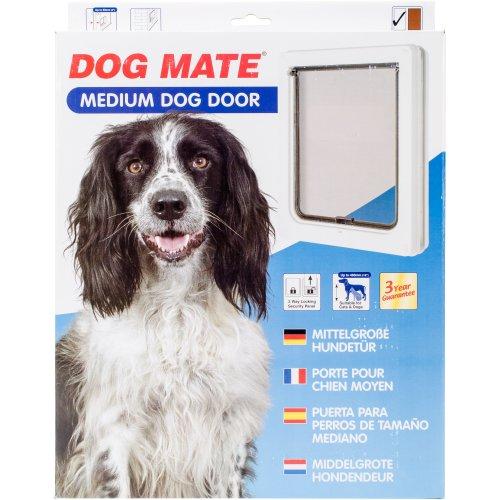 Dog Mate Medium Dog Door-White