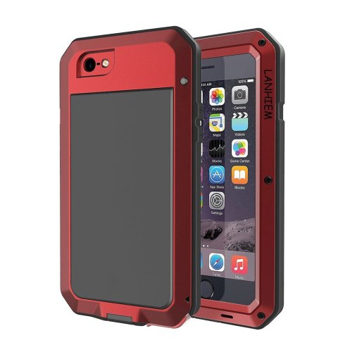 official photos bd6ee 7f445 iPhone 7 Plus Case, Lanhiem iPhone 8 Plus Case [Tough Armour] Heavy Duty  Shockproof Metal Case with Built-in Glass Screen, 360 Full Body  Protective...