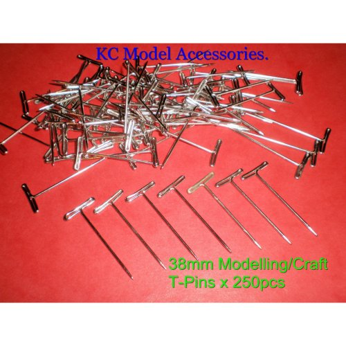 T-Pins 38mm LONG FOR MODELLING & CRAFTS x 250 PINS
