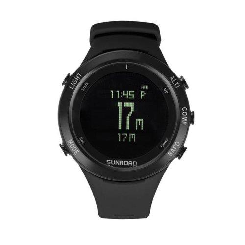 Sunroad FR922A Black Mens Military Digital Heart Rate Watch - Black