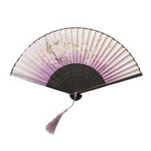 Fashion Hand Fan Handmade Handheld Folding Fan Retro Style Women's Folding Fan