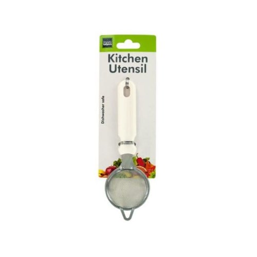 Kole Imports HH884-12 Mini Strainer with White Handle - Pack of 12