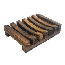 Natural Pine Wood Soap Dish/Soap Holder Wood Soap Dish Tray(11*8*2.4CM, NO.005)