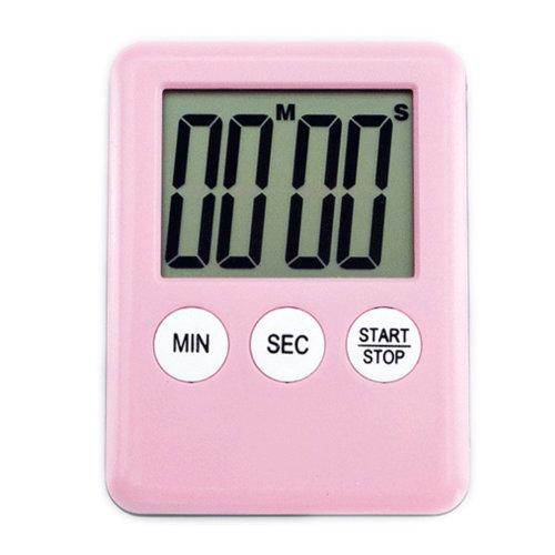 Functional Electronic Digital Timer Kitchen Timer, Pink
