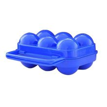 Kitchen Plastic Egg Storage Boxes Eggs Holder Eggs Trays 6 Grid Blue
