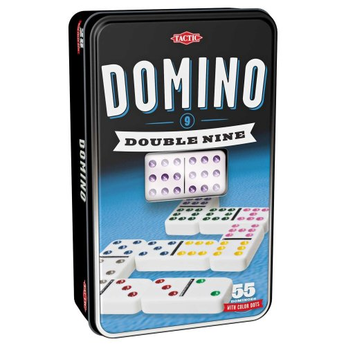 Double Nine Dominoes Game in a Tin
