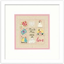 D72-74052 - Dimensions Stamped Embroidery -  Wedding Sampler